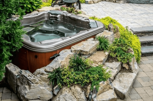 Automated Hot Tub Privacy Screen and Cover