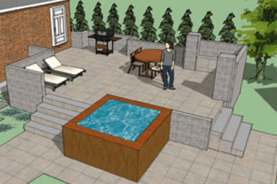 Exceptional Hot Tub Deck 3D Design