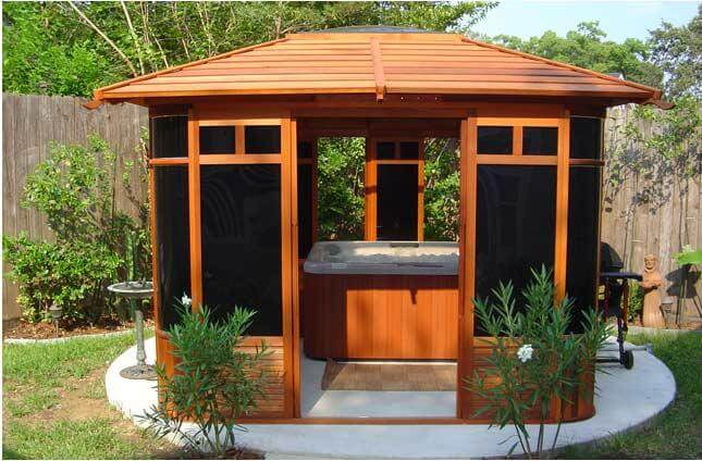 Japanese Gazebo With Hot Tub