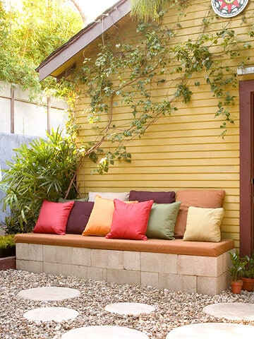 Simple Patio Bench