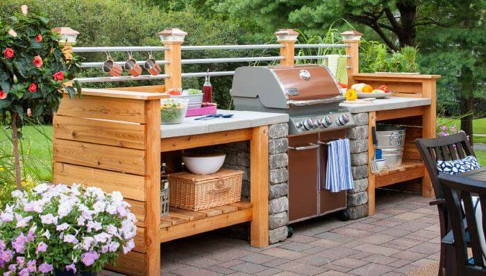 interject an outdoor kitchen in your deck design - Deck Design Ideas